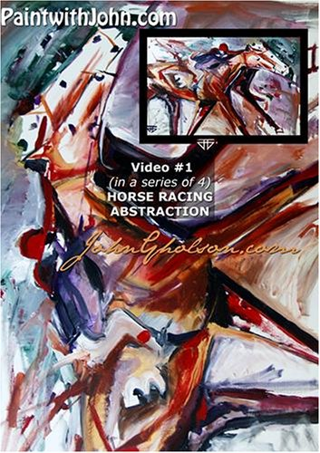 PaintwithJohn.com Video #1 (in a series of 4) horse racing abstraction