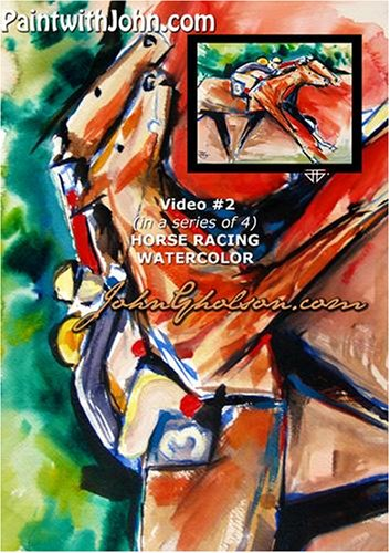 PaintwithJohn.com Video #2 (in a series of 4) horse racing watercolor