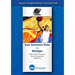 1992 NCAA Division I  Men's Basketball Regionals - East Tennessee State vs. Michigan