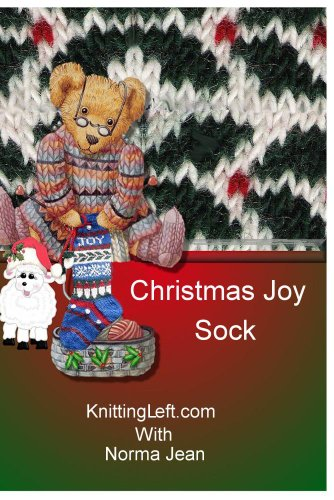 Christmas Sock For Left-Handed Knitters