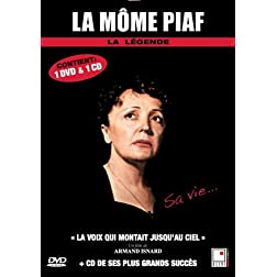 Edith Piaf - 1 documentaire (La voix qui montait jusqu'au ciel) + 1 CD (French only)