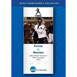 2001 NCAA Division I  Men's Football Final - Furman vs. Montana