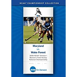2006 NCAA Division I  Women's Field Hockey National Championship - Maryland vs. Wake Forest
