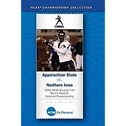2005 NCAA Div I-AA Men's Football National Championship - Appalachian State vs. Northern Iowa
