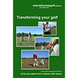 TRANSFORMING YOUR GOLF 3 disc DVD set