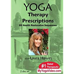 Yoga Therapy Prescriptions - 60 Health Restorative Sequences ~ Laura Hawes