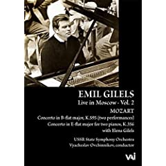 Emil Gilels: Live in Moscow, Vol. 2 - Mozart