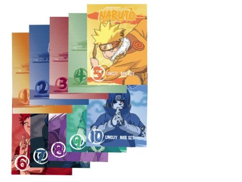 Naruto Uncut Complete Box Set (Vol 1-10 Box Sets) - AMAZON EXCLUSIVE