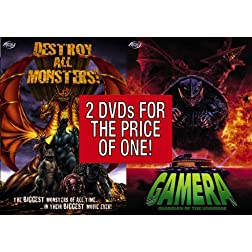 Destroy All Monsters / Gamera:  Guardian of the Universe (2-pack)