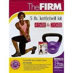 The Firm 5lb Kettlebell Kit
