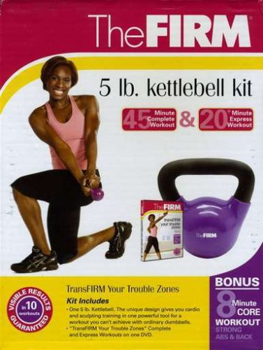 The Firm 5lb Kettlebell Kit