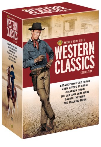 Warner Home Video Western Classics Collection (Escape from Fort Bravo / Many Rivers to Cross / Cimarron 1960 / The Law and Jake Wade / Saddle the Wind / The Stalking Moon)