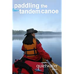 paddling the tandem canoe