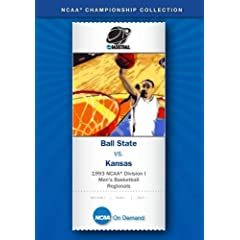 1993 NCAA Division I  Men's Basketball Regionals - Ball State vs. Kansas