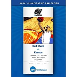 1993 NCAA Division I  Men's Basketball Regionals - Ball State vs. Kansas