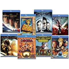 Blu-ray Starter Set  (Black Hawk Down / The Adventures of Baron Munchausen / Dogma / A Few Good Men / Gattaca / Life of Brian - Collector's Edition / Resident Evil: Apocalypse / The Fifth Element)