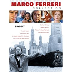 Marco Ferreri: The Collection (contains La Grande Bouffe, El Cochecito, The Seed of Man, Don't Touch the White Woman, Bye Bye Monkey, Seeking Asylum, Tales of Ordinary Madness, The House of Smiles)