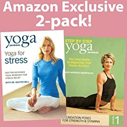 Yoga Journal's Yoga for Stress/Step by Step Vol. 1 (2 Pk)
