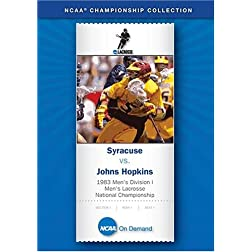 1983 Men's Division I Lacrosse National Championship - Syracuse vs. Johns Hopkins