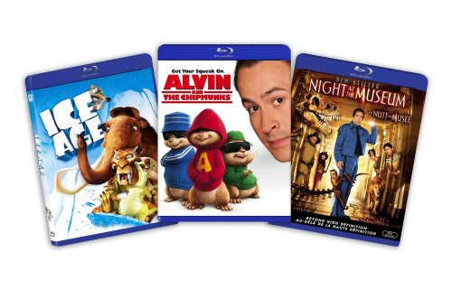 Blu-ray Kids and Family Bundle (Ice Age / Alvin and the Chipmunks /Night at the Museum) [Blu-ray]