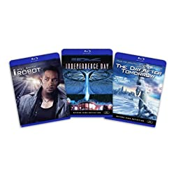 Blu-ray Sci-Fi Bundle (I Robot / Independence Day / Day After Tomorrow) [Blu-ray]