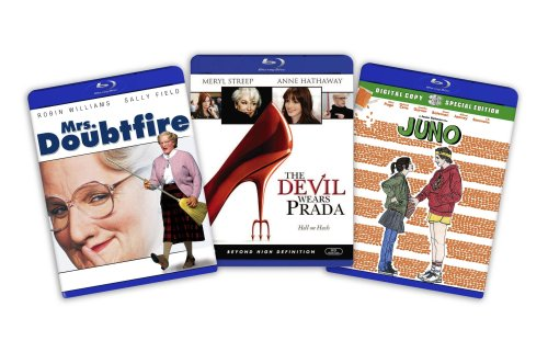 Blu-ray Comedy Bundle (Juno / The Devil Wears Prada / Mrs. Doubtfire)  [Blu-ray]