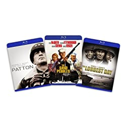 Blu-ray War Classics Bundle (Patton / The Longest Day / Sand Pebbles) [Blu-ray]