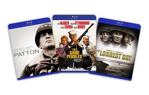 Blu-ray War Classics Bundle (Patton / The Longest Day / Sand Pebbles) [Blu-ray]