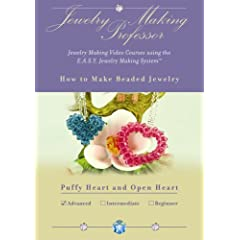 How To Make Beaded Jewelry - Puffy Heart and Open Heart