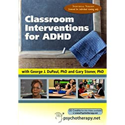 Classroom Interventions for ADHD (Individual Version)