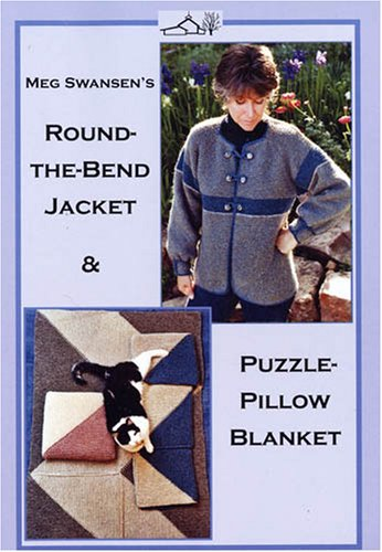 Knitting the Round the Bend Jacket/Puzzle Pillow Blanket