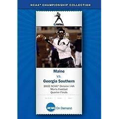 2002 NCAA Division I-AA  Men's Football Quarter Finals - Maine vs. Georgia Southern