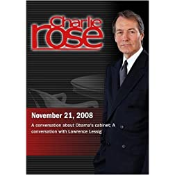 Charlie Rose - Jake Tapper / Lawrence Lessig (November 21, 2008)