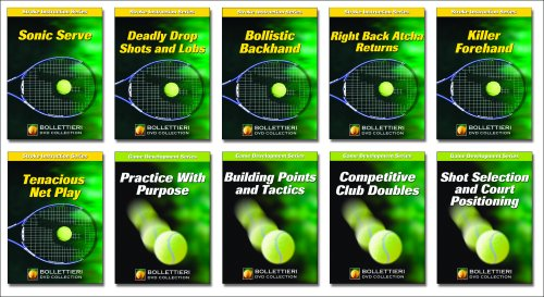 The Nick Bollettieri DVD Collection: Complete 10xDVD set collects the Stroke Instruction Series and the Game Development Series