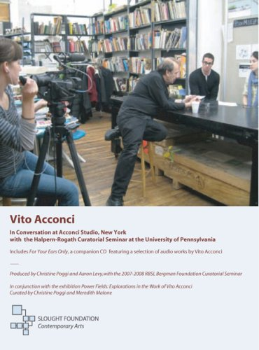 Vito Acconci in Conversation at Acconci Studio, New York