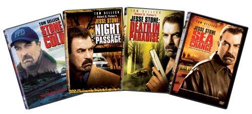 Jesse Stone 4-pack DVD Bundle (Stone Cold / Night Passage / Death in Paradise / Sea Change)