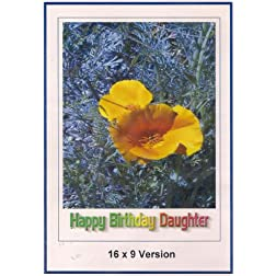 Guns Of Diablo: Widescreen TV: Greeting Card: Happy Birthday daughter