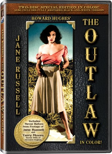 The Outlaw - In COLOR! - 2 DVD SET with video commentary by Jane Russell and Terry Moore - Also Includes the Original Black-and-White Version which has been Beautifully Restored and Enhanced!