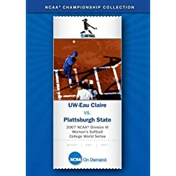 2007 NCAA Division III Women's Softball - UW-Eau Claire vs. Plattsburgh State