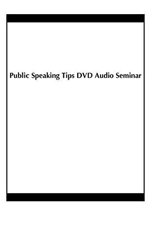 Public Speaking Tips DVD Audio Seminar