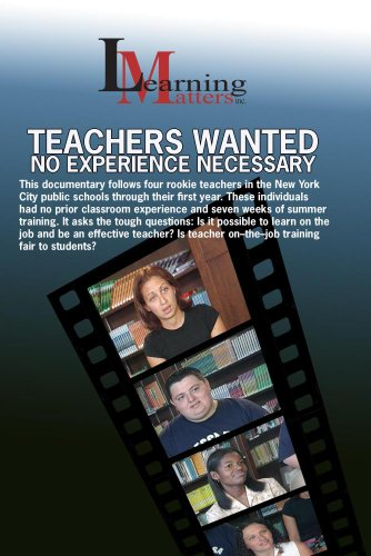 Teachers Wanted: No Experience Necessary