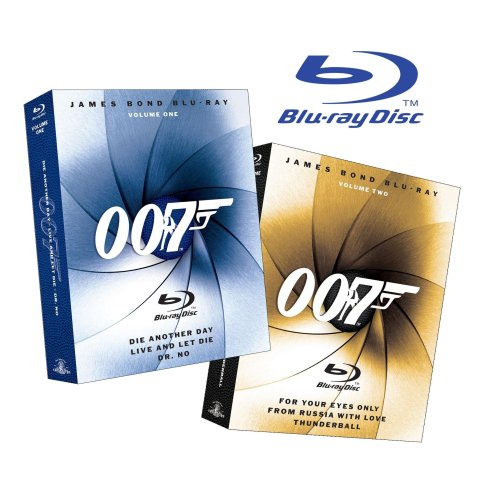 James Bond Blu-ray Collection Six-Pack (Dr. No / Die Another Day / Live and Let Die / For Your Eyes Only / From Russia with Love / Thunderball) (Amazon.com Exclusive) [Blu-ray]
