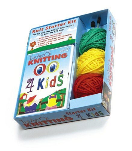 DVD The Art of Knitting 4 Kids Kit (Leisure Arts #46756)