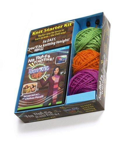 DVD No Rules Knitting at the Teen Knit Cafe Kit (Leisure Arts #46758)