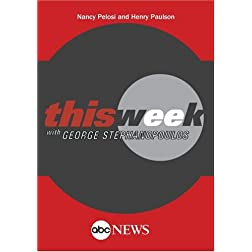 ABC News This Week Nancy Pelosi and Henry Paulson