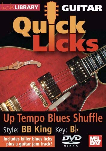 Guitar Quick Licks - BB King Up Tempo Blues Shuffle Key of B Flat