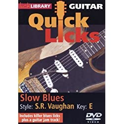 Guitar Quick Licks - Slow Blues Stevie Ray Vaughan, Key: E