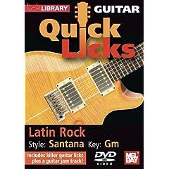 Guitar Quick Licks - Santana Latin Rock Key of Gm