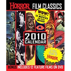 Horror Film Classics 2009Calendar with 4 DVD's