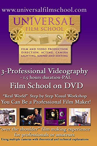 3-Professional Videography-Film School on DVD(PAL)